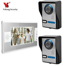 Yobang Security 7″ Video Door Phone Door Monitor Entry System Night Vision Rainproof Video Intercom Apartment DoorPhone System