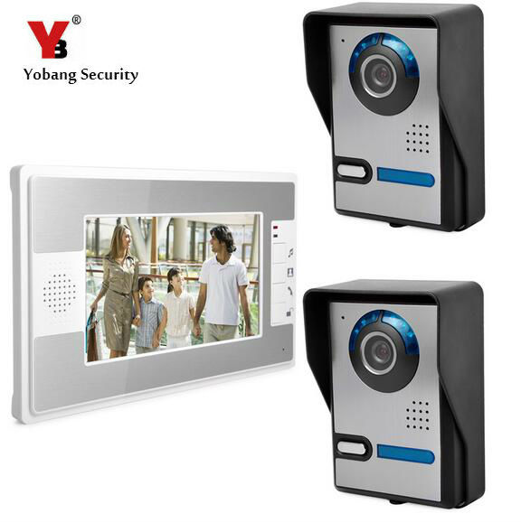 Yobang Security 7 Video Door Phone Door Monitor Entry System Night Vision Rainproof Video Intercom Apartment DoorPhone System