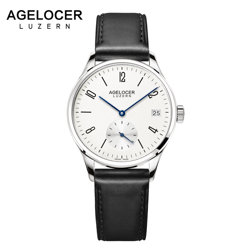 Agelocer Swiss Automatic Fashion Women Watches Luxury Steel Leather Ladies Watch Women Dress Clock Calendar relogio feminino swiss fashion brand agelocer dress gold quartz watch women clock female lady leather strap wristwatch relogio feminino luxury