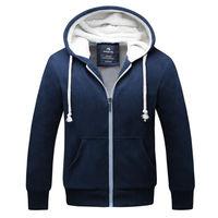 Winter Jacket Men 2017 Brand Clothing Thick Sweatshirt Men Hoodies High Quality Velvet Hoody Mens Tracksuit