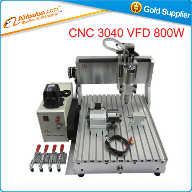 цены High precision CNC 3040 Z-VFD 800W 4axis 3d wood engraving machine ball screw water cooling mini milling router