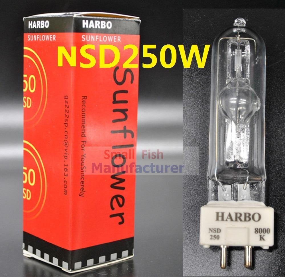 Free shipping Stage Lighting Lamp MSD 250/2 MSD250W Watts 90V MSR Bulb NSD 250W 8000K Metal Halide Lamp Moving Head Lights Bulbs