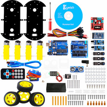 For Arduino Robot Cars APP RC Remote Control Ultrasonic Bluetooth Robotics Learning Kit Educational Stem Toys for Children Kids