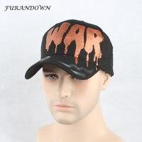 Furandown 2017 ماركة أزياء البيسبول كاب للرجال النساء اليد الطلاء كتابات casquette الهيب هوب قبعة snapback القبعات