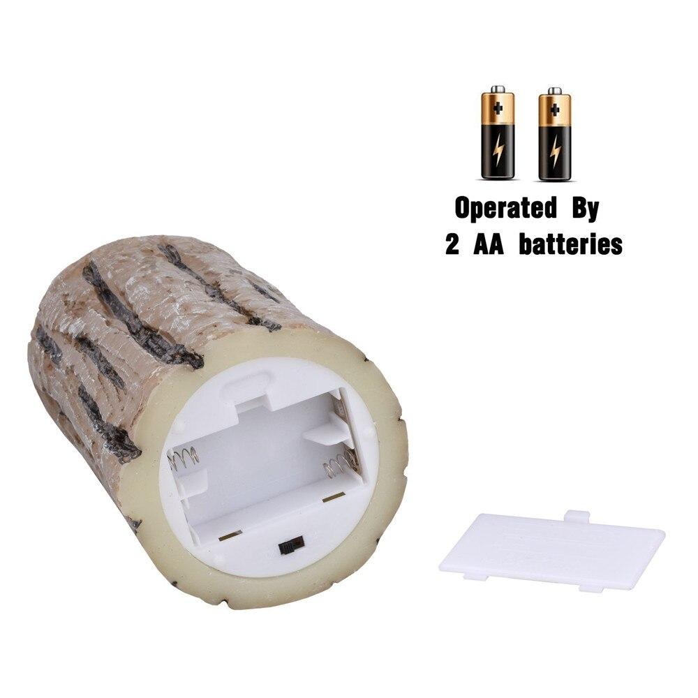 3 uds. Lámpara LED a batería con velas led con llama parpadeante con cera de vela de control remoto led para boda Deco - 5