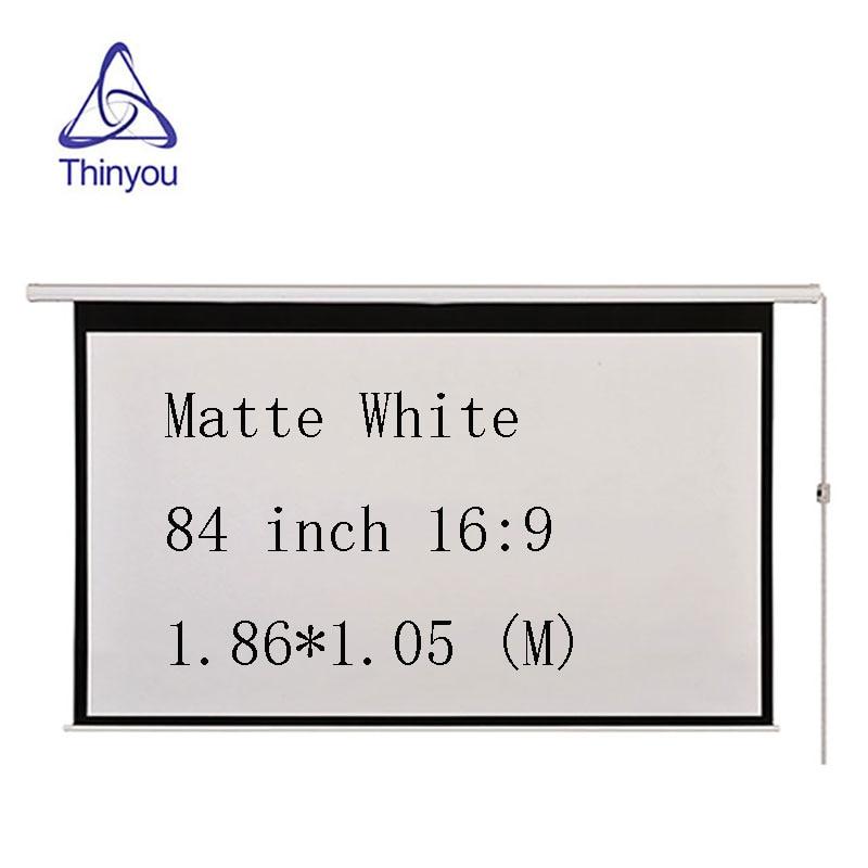 Thinyou 84Inch 16 9 Wall Ceiling Electric Motorized HD font b Projector b font Screen Matt