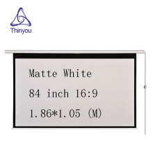 Thinyou 84Inch 16:9 Wall Ceiling Electric Motorized HD Projector Screen Matt White   With Remote Control Up Down for Home Office