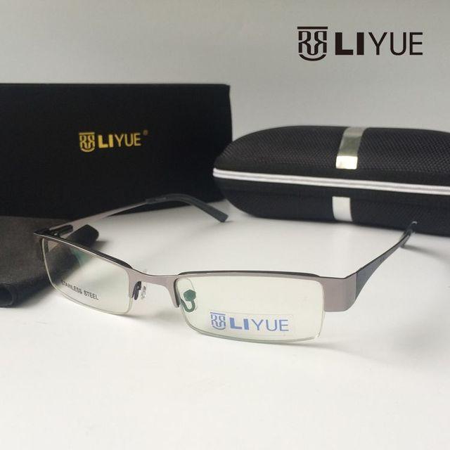 Ojo marcos de los vidrios de las mujeres gafas graduadas vidrios ópticos marco cuadrado gafas de marco de metal gafas enmarca S54