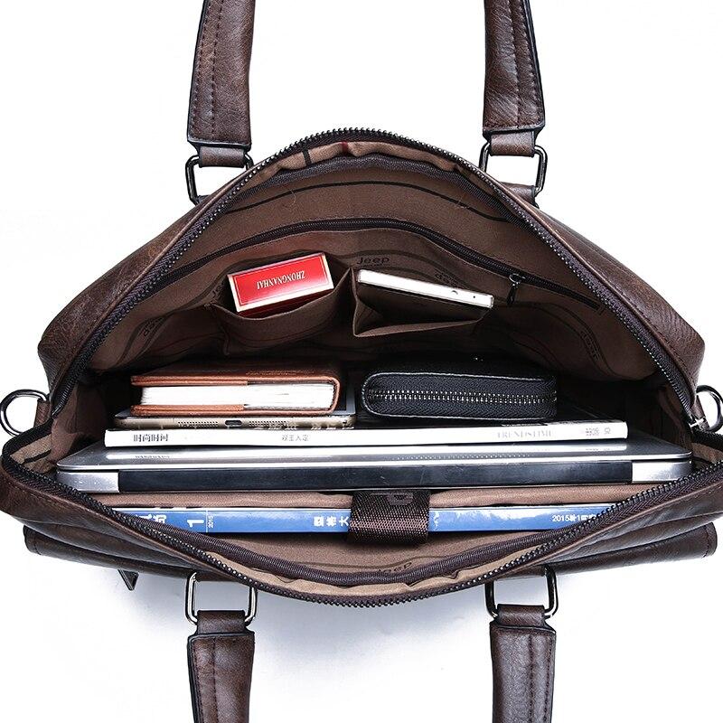 HTB1ryZDeUuF3KVjSZK9q6zVtXXaR New Men Briefcase Bags Business Leather Bag Shoulder Messenger Bags Work Handbag 14 Inch Laptop Bag Bolso Hombre Bolsa Masculina