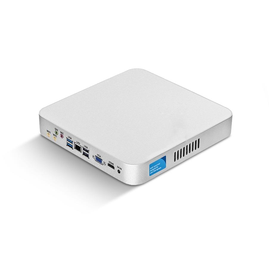 Mini PC Intel Core I5 4200U 3317U I7 4500U Windows 10 USB*6 Mini Computer Cooler Desktop Minipc WIFI HDMI HD Graphics 4400