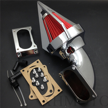 Aftermarket free shipping motorcycle parts Cone Spike Air Cleaner kit intake for Kawasaki All Vulcan 2000 Classic LT CHROME