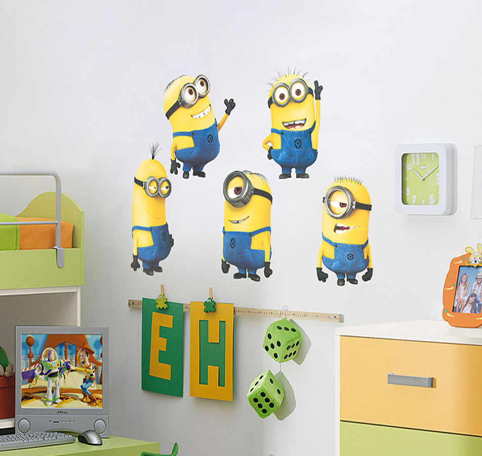 Minion Bedroom Decor Popular Minion 3d Stickers Buy Cheap Minion 3d Stickers Lots From