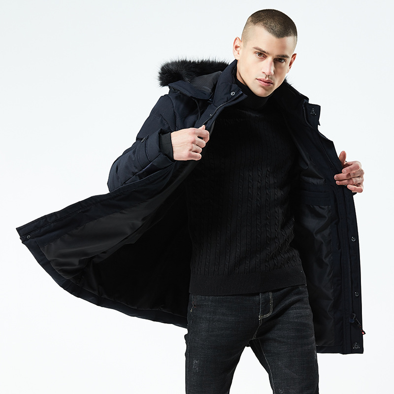 Luxury Winter Men Parka Jacket Long Coat Male Thick Cotton Padded Jacket High Quality Parka Coat Male Fashion Casual Coats 3xl in Parkas from Men 39 s Clothing