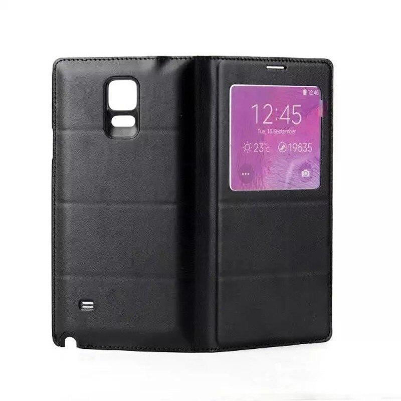 bilder für Qi Wireless Charging-Receiver rückseitige Abdeckung Wireless Charging Pad mit PU Ledertasche für Samsung Galaxy Note 4 NICHT S-view abdeckung