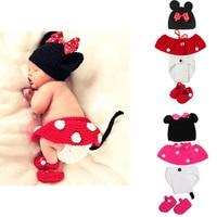 赤ちゃんの女の子かわいい甘いニットドレス0-6メートル幼児素敵な写真撮影の小道具服ソフトちょう結び手作り女の子新生児ギフトスー