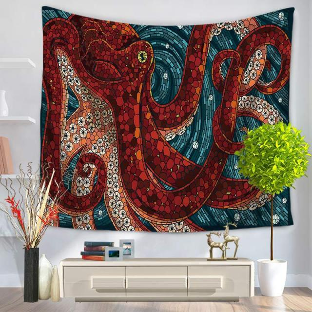 Ordinaire CHARMHOME Mediterranean Octopu Pattern Tapestry Polyester Fabric Wall  Hanging Tapestry For Bedroom Living Room Dorm Accessories