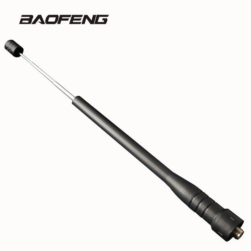 Asta telescopica guadagno Antenna per Baofeng walkie talkie Dual Band UHF per Radio Portatile UV-5R BF-5RE UV-3R