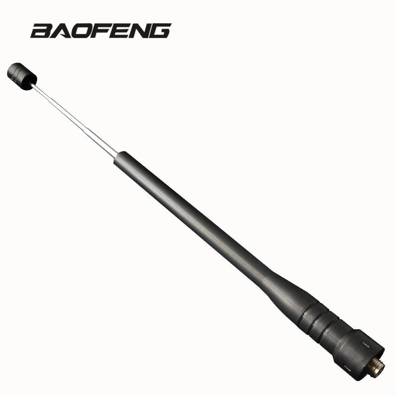Rod telescopic gain Antenna for Baofeng walkie talkie Dual Band UHF for  Portable Radio UV 5R BF 888S UV 5RE UV 82 UV 3R|antenna for baofeng|dual band portable antenna|portable uhf antenna - title=
