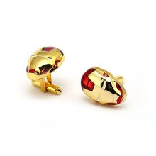 Fashion Iron Man Cufflink For Men Ironman Jewelry movies Avengers 3 Infinity War Cuff Link French Shirt Sleeve Button Gifts(China)