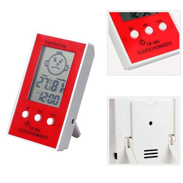 4 Color Portable Digital Indoors Outdoors Hangable Thermometer Precise Hygrometer Table Temperature Logger Humidity Meter
