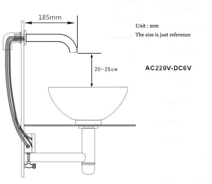 2015 new arrival cold only wall mounted brass automatic sensor faucet for hostipal public place in Basin Faucets from Home Improvement