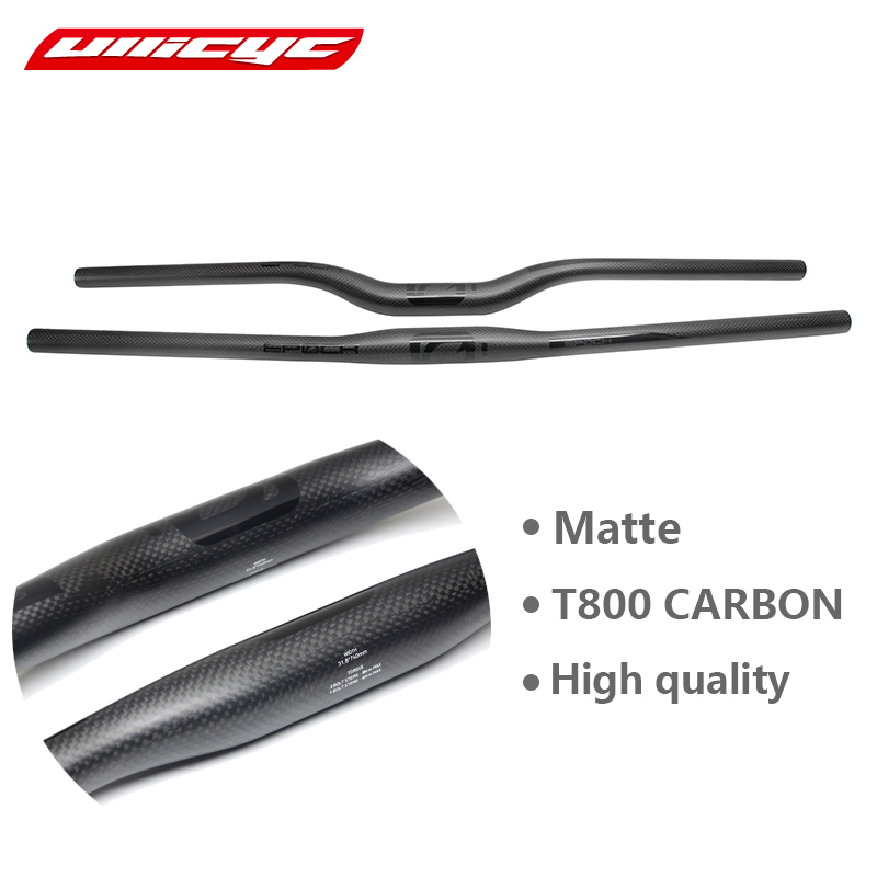 2017 Mountain bike 3K full carbon fibre flat Horizontal carbon bicycle handlebar MTB bike parts 31.8*580-720mm Free ship CB440 цены