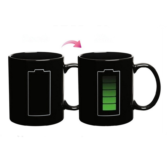 Hot Sale Battery Color Changing Mug Ceramic Temperature Changing Cup