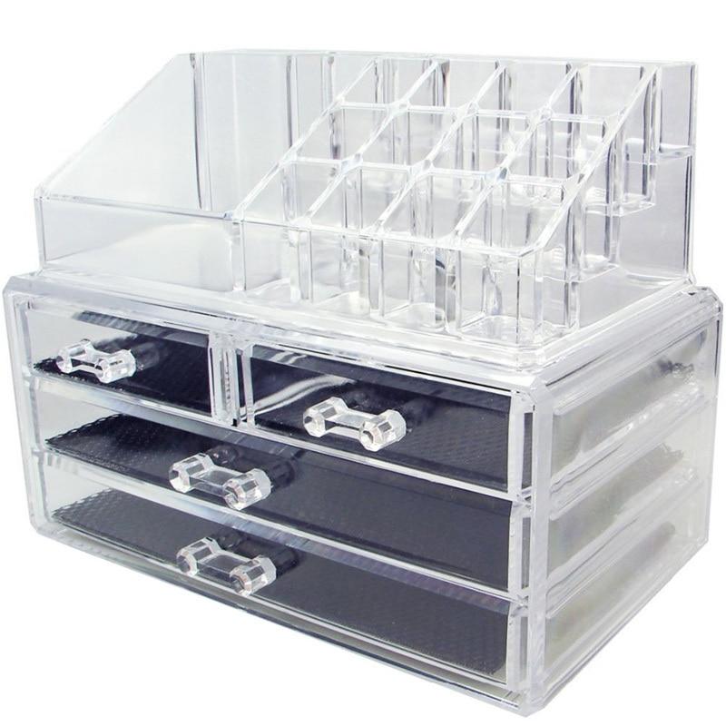 LVV RUMAH Akrilik Makeup Organizer Kotak Penyimpanan Kotak Kosmetik - Organisasi dan penyimpanan di rumah - Foto 5