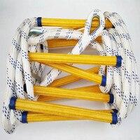 10 м огонь Спасательная Лестница Противоскользящий спасательный канат аварийная работа безопасность отклик самоспасательный спасательный