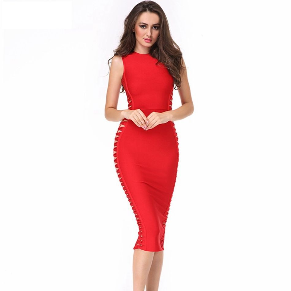 red-sexy-hollow-out-bandage-dress