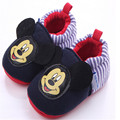 Fashion Rubber Bottom Baby Shoes Unisex Kids Boys Girls First Walkers Warm Crib Anti Slip Slippers Cartoon Baby Footwear Infant
