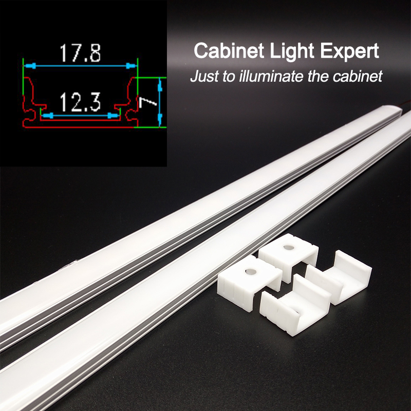 Image 4 - 2pcs dimmable under cabinet strip lighting7020 7030 9W 50cm touch switch control Kitchen led  b DC12V rigid Strip-in LED Bar Lights from Lights & Lighting