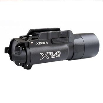 WIPSON Tactical X300 X300U Flashlight Waterproof Weapon Light Pistol Gun Lanterna Rifle Picatinny Weaver Mount For Hunting 5