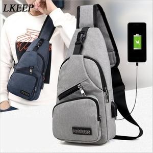 New USB Charging Bag Men Anti Theft Travel Wallet Bag School Short Trip Packing Organizers Messengers Crossbody Bags