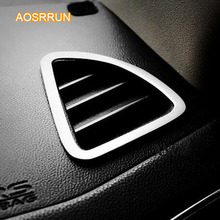 AOSRRUN Stainless steel Auto instrument desk tuyere decoration Air-conditioning outlet Car accessories for Mitsubishi ASX 2018