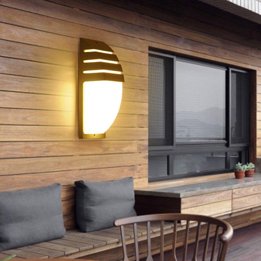 BEIAIDI 6 W Moderno Giardino Esterno Portico Lampada Da Parete Impermeabile Esterno Parete Della Costruzione Leggera di Alluminio Hotel Villa Corridoio Appliques 4