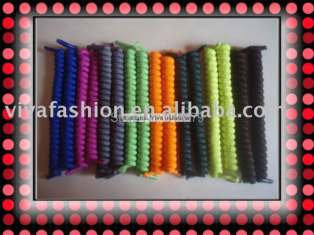 DHL free shipping  72pairs/lot,  hottest selling 11cm  curly  shoelaces/elastic shoelace/spring shoelaces