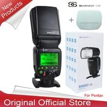 New Arrival Shanny SN600FGZ P-TTL GN60 1/8000s Slave On-Camera Flash speedlite for Pentax K100 K100D K200D K-7 K-x K-r K-5 K-01