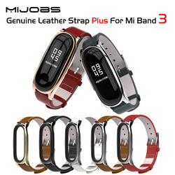 Strap For Xiaomi Mi Band 3 Genuine Leather Strap Wrist Straps Screwless Bracelet Smart Band Replace Accessories For Mi Band 3