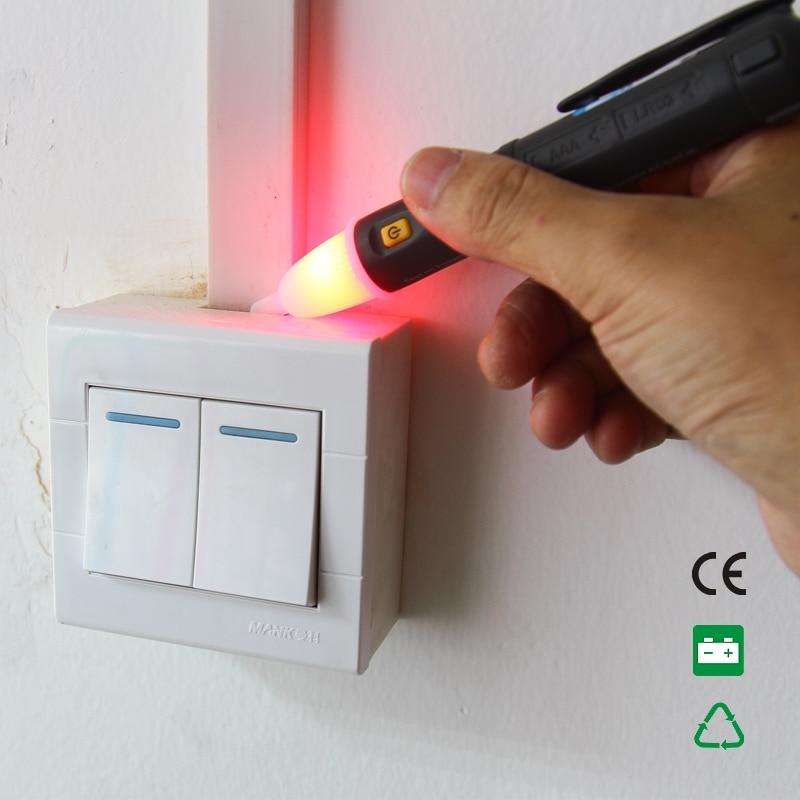 Non Contact AC Voltage detector 50~1000V Electric Voltage Tester Sensor Pen Stick LED with black colour NOYAFA NF-608