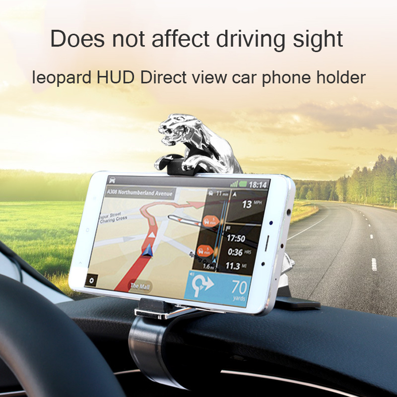 Car Phone Holder Dashboard Mount Universal Leopard Body Cellphone Clip GPS Bracket Mobile Phone Holder Stand (1)