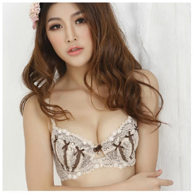 e14a9204c92ec Hot selling Plus size Nude B-D cup push up bra set women s bra and panty set  3 4 Cup cotton intimates free shipping