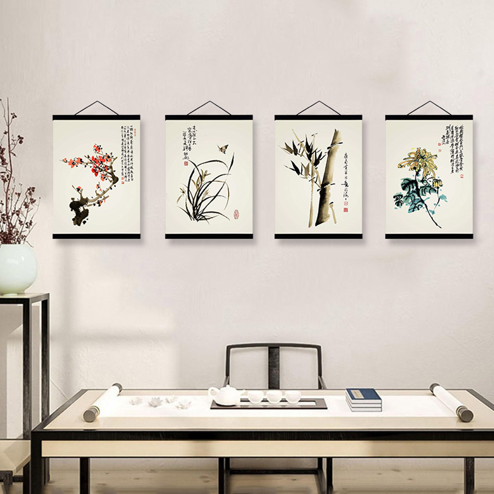 Online buy wholesale oriental flower pictures from china for Modern oriental decor