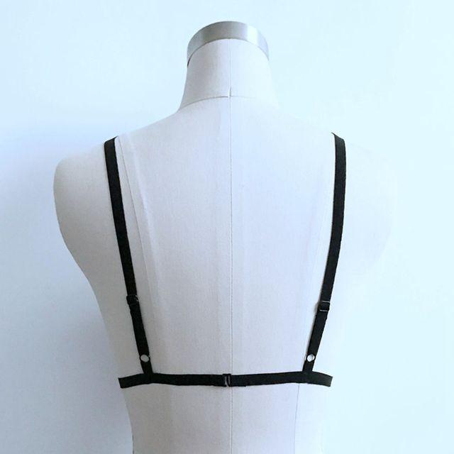 Women Body Harness Bra Cage Top Lingerie Adjustable Size Hollow Out Bra Bustier Soft Chain Elastic Bondage Bra