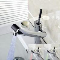 2014 New Bathtub Vessel Torneira Water Tap Sink Bathroom Waterfall Chrome Basin Faucet L 29 Mixer