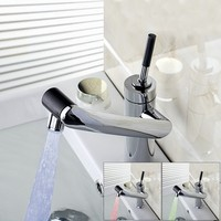 2014 New Bathtub Vessel Torneira Water Tap Sink Bathroom Waterfall Chrome Basin Faucet L 29 Mixer