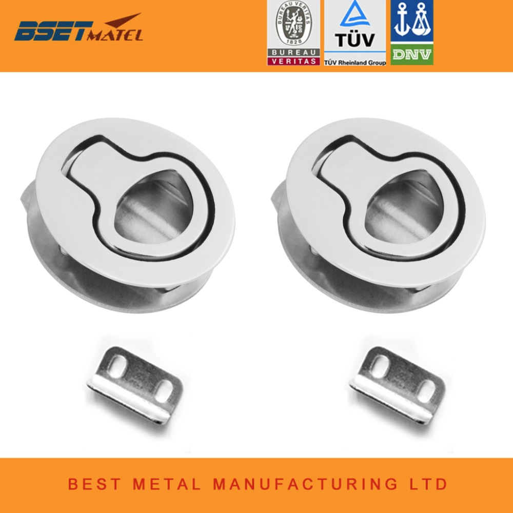 Stainless Steel 316 Marine Boat Flush Pull Hatch Latch Lift Handle 2/'/'