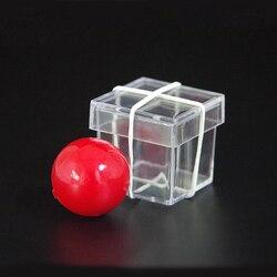 Bandit bola penetrar através da caixa transparente truques mágicos mágico fechar-se rua ilusão adereços mentalismo comédia magia