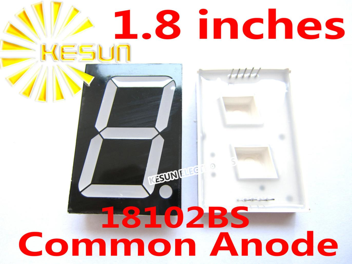 FREE SHIPPING 5PCS X 1.8 Inches Red Blue Green White 18102BS 18102AS Common Anode/Cathode Single Digital Tube LED Display Module