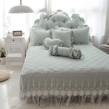 Thick cotton Bedding Set 5 colors lace Bed Skirt Bedspreads Mattress Protective Cover Anti slip Bed Skirt Fitted bed